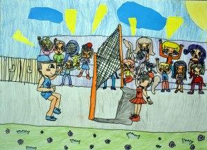 01. Badminton likovni konkurs - nagrađeni rad - I mesto