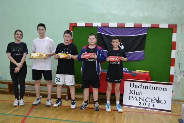 Sa leva na desno: 1. Stefan Mijatović, 2. Aleksandar Vitman, 3. Jovan Kocić, 3. Mihajlo Borka