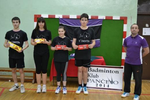 Sa leva na desno: 1. Danijel Ivanović, 2. Katarina Gojković, 3. Ana Trajkovski, 3. Nikola Vujović