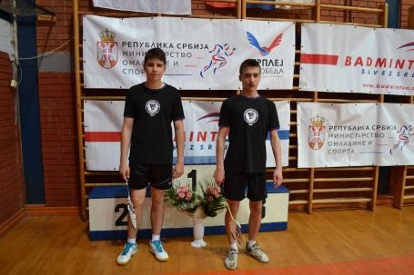 Nikola Vujović levo, Danijel Ivanović desno