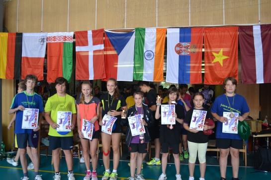 Osvajači medalja na turniru tokom kampa